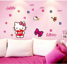 Hello Kitty  wall stickers for kids rooms adhesive home decoration