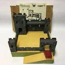 Vintage Tri-ang W Fort Wooden Castle Complete With Instructions & Box Lines Bros