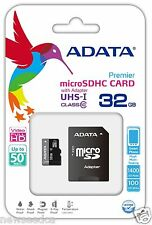 Adata Class 10 32GB microSD micro SDHC SD UHS-I U1 TF Flash Memory Card 50MB/s