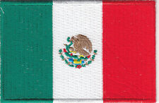 MEXICO FLAG - MEXICAN NATIONAL FLAG PATCH/Iron On Embroidered Applique