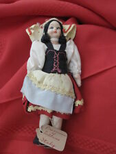 Vintage Traditional Dressed Hand Painted Cloth  ITALY  Doll