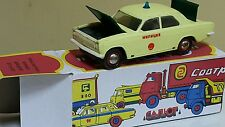 VINTAGE POLICE CAR TOY VOLGA GAZ-24 SOVIET RUSSIA 1970 SEDAN ORIGINAL BOX HARKOV