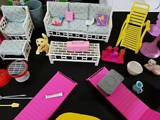 Barbie Doll Bubbling Hot Tub Jacuzzi Patio Furniture Grill & Accessories