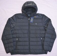 $198 New L Large  POLO RALPH LAUREN Mens packable down jacket puffer black coat