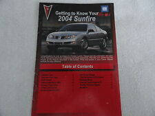2004 Pontiac Sunfire Quick Reference Guide  Owners Manual Supplement