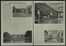 The Vyne Sherborne St John Hampshire 1957 4 Page Photo Article