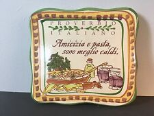 ITALIAN PROVERB PLAQUE Cerasella Hand Painted Wall Tile - Cortopassi Italy 2008