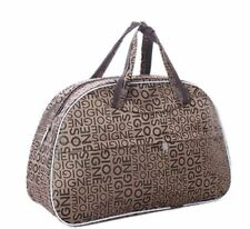 New Travel Carry-On Luggage Handbag Faux Leather Canvas Tote Purse Duffle Bag