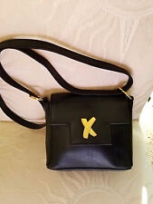 Authentic PALOMA PICASSO Leather Shoulder Bag Handbag ~ Made in Italy