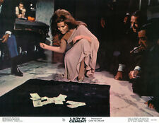 Lady in Cement 11x14 original lobby card Raquel Welch at crap game Frank Sinatra