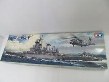 ENS63110 Tamiya 1:350 US Battelship BB-62 New Jersey Bausatz , geöffnet,sehr gut