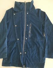 Tommy Hilfiger Women's Jacket Hoodie Full Zip, Cotton, Denim Blue, Medium NWT