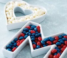 2 Ceramic Letter Dishes for Wedding / Lolly Buffet /Engagement/Party