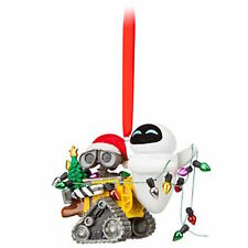 Disney Parks Christmas Ornament Pixar Wall-E and Eve with Lights New with Tags