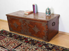 antik orient Holz truhe Antique islamic omani wooden Storage Chest 18/19.Jhd N-F