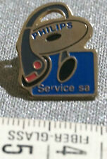Vintage PHILIPS Headphones CD Record Pin Badge PHILIPS SERVICE sa