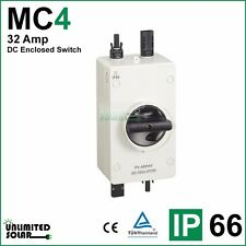 DC Enclosed Switch, PV Array DC Isolator Switch 32 Amp 1000V - 4 Pole -MC4
