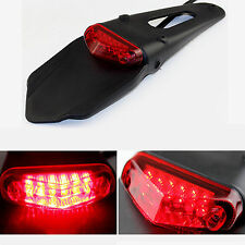 Motorcycle LED Stop & Rear Tail Light Fender for Enduro, Trials, Trailbikes, DRZ