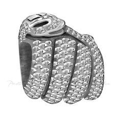 Lovelinks Bead Sterling Silver, Coiled Up Snake Bead Fashion Charm Jewelry TT483