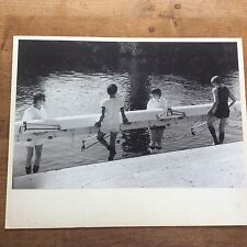 Superb Vintage 1993 B/W Photograph Rowing on River Ouse Photo Dr K.W Shanks York