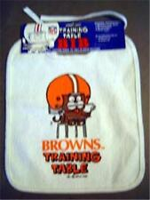 Cleveland Browns Football Training Table Baby Bib 1990 MOC 100% Cotton Front