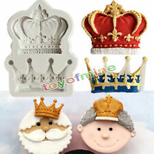 Queen King Royal Crown Silicone Fondant Mould Cake Decor Sugarcraft Icing Mold