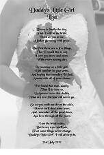Wedding Day Thank You Gift, Father Of The Bride Poem A5 Photo 260gms