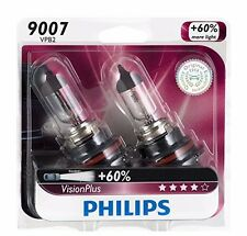 2x Philips 9007 HB5 VisionPlus Upgrade Headlight +60% More Light Bulb 65/55W 12V