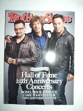 Magazine ROLLING STONES US november 2009 rock and roll hall of fame concerts