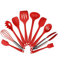 Red Silicone Heat Resistant Cooking Kitchen Utensils Tool Accessories Set
