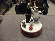 1999 Era Coca-Cola Polar Bear Alarm Clock, Large Type Works Great