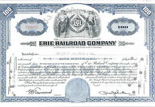 Erie Railroad Company Blue Common Stock Certificate 1950 100 Shares GEF-AU