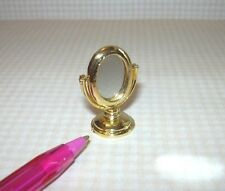Miniature Petit Gold Dressing Table Mirror, Nice Scale! DOLLHOUSE 1/12 Scale