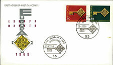 Ersttagsbrief 1968 FDC Ersttag Sonderstempel Bonn Europa Marken 20+30 Pfennig