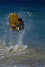 568049 saltar la ola con un Boogie Board Baldwin Parque A4 Foto Impresión