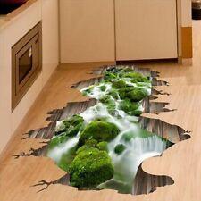 3D Stream Floor Decor Wall Sticker Removable Mural Decals Vinyl Art Home