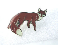 ZP264 Fox Enamel Lapel Pin Badge Brooch Bushy Tail Cunning as...