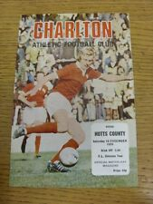 18/12/1976 Charlton Athletic v Notts County [Postponed] . Condition: We aspire t