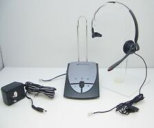 Plantronics S12 Office Operator Telephone Mono Headset System with US AC Charger