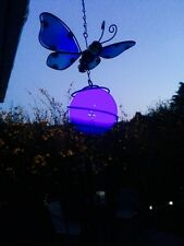 Solar Powered Colour Changing Butterfly Windchime Light Garden Solar Lights