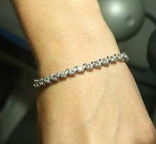 "4.7 ct & 5.55 ct 3prong & slink tennis bracelets 14k white gold 7"" wholesale lot"