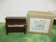 1/12  Scale  Miniature  Doll House  Wooden Musical Player Plano Music Box.