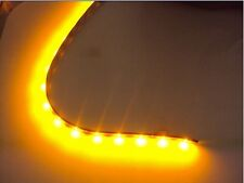 Amber 2x 30cm 15leds 3528 SMD Car Flexible Led Strip Light Bright Waterproof L32