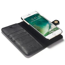 Permium QH Leather Wallet Purse 2in1 Detachable Magnetic Case For Samsung iPhone
