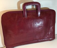 Wilsons Leather Pelle Studio Burgandy Briefcase Attaché Women's 33702-67