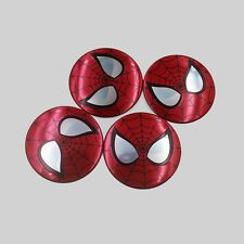 4x 56.5mm Spider-Man Car Steering Wheel Center Hub Cap Decal Emblem Stickers New