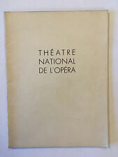 THEATRE PROGRAMME FAUST BARBIER CARRE 1953 ILLUSTRE