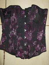 Stunning Womans Strapless Boned Corset Bodice Basque Top - Size 8 - Ladies