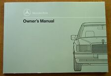 1991 Mercedes Benz 300E/300CE Owners Manual-W124-New Old Stock-300 E/300 CE