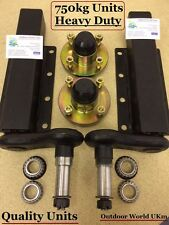 Quality 750 KG Trailer Suspension Units Standard Stub Axle Hubs Bearings & Caps